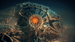 """""""Steam Punk Jewel"""" by Julius Horsthuis, fractal art created with Mandelbulb 3D"""