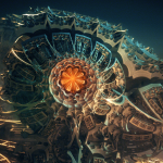 """Steam Punk Jewel"" by Julius Horsthuis, fractal art created with Mandelbulb 3D"