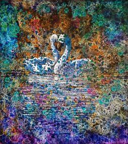 gian piero viglino quadro cigni love arte contemporanea