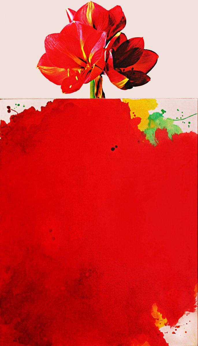 Giorgio Albertini, Amarilli (dittico), Acrilico su tela, 150x80, 2005