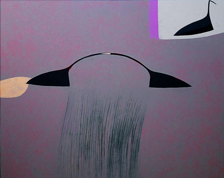 Giovanni Cavaliere, Fuori nebbia, Olio su tela, 130x160, 2007
