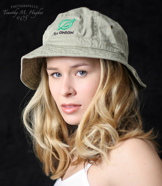 First commercial modeling shoot/tear sheet for The Onion, back in 2005, when bucket hats were the coolest. Shot by Timothy Hughes.