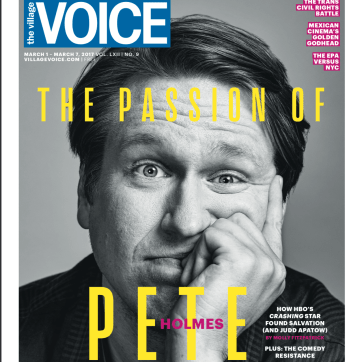 Grooming on Pete Holmes for the cover of Village Voice. Shot by Winni Wintermeyer.
