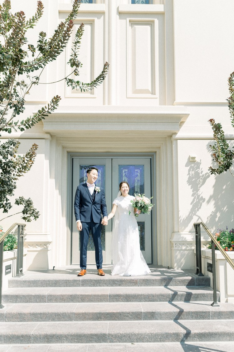 Payson Temple Wedding | Springville Museum of Art | Sang + Miso