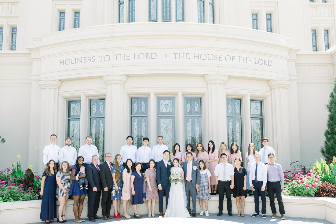 Payson Temple Wedding Family Photos