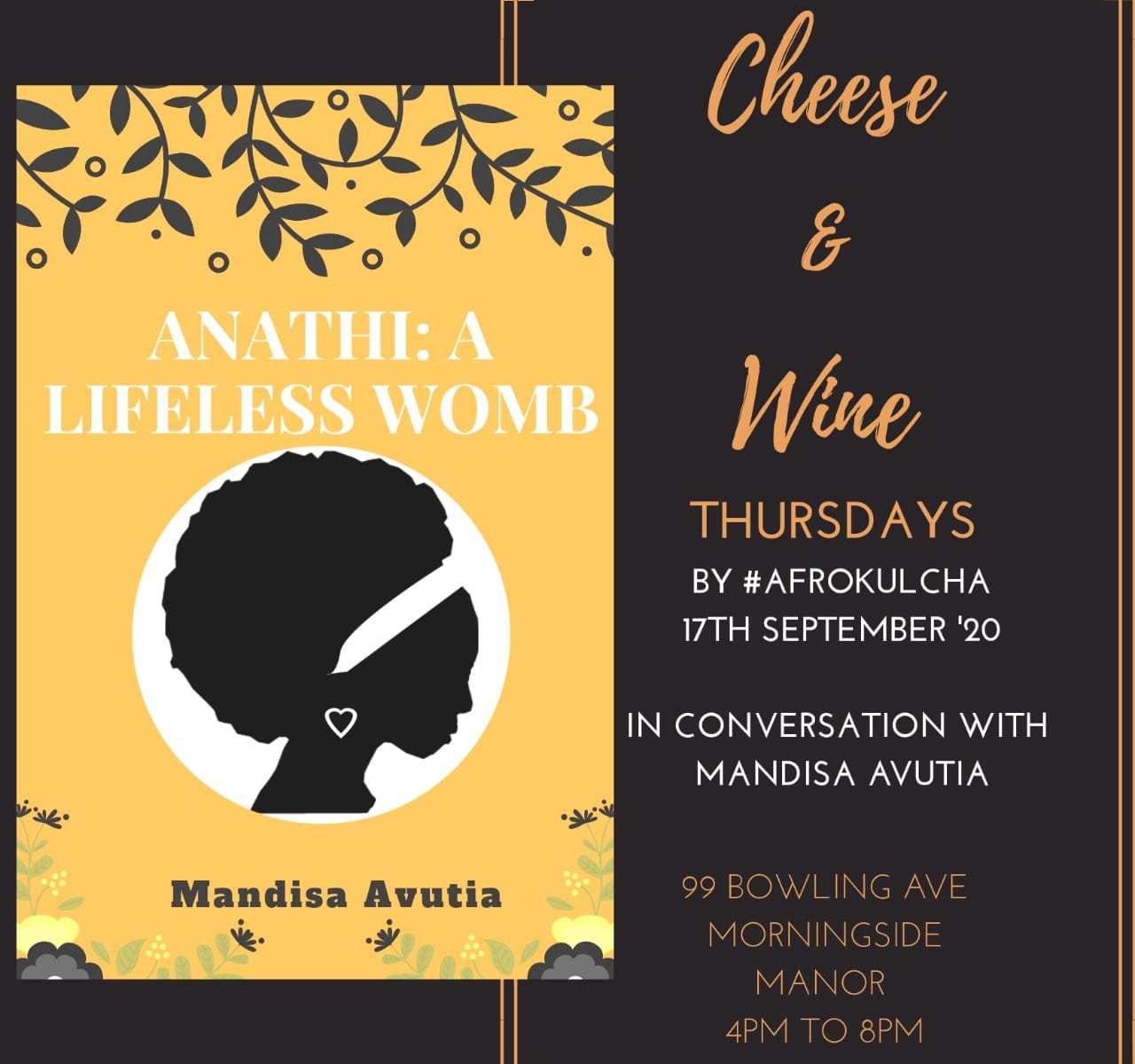 Cheese & Wine Thursdays Poster with Afrokulcha