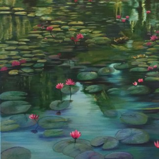 """Water lilies, """"Pink Lilies"""""""