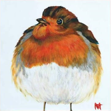 Robin fluffed up against the cold