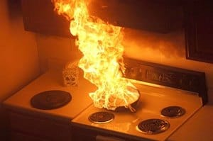 grease fire, kitchen fire, how to
