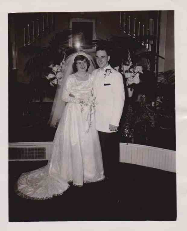 1957 Gene and Elaine original wedding gown made by Elaine, worn by daughter and  granddaughter