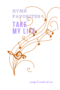 HYmn Favorite: Take My Life