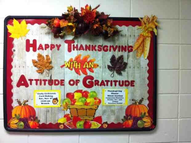 November Bulletin Board Thanksgiving