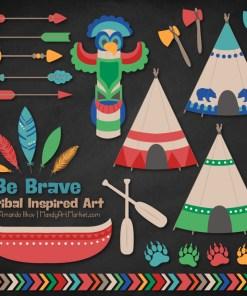Crayon Box Boy Tribal Clipart