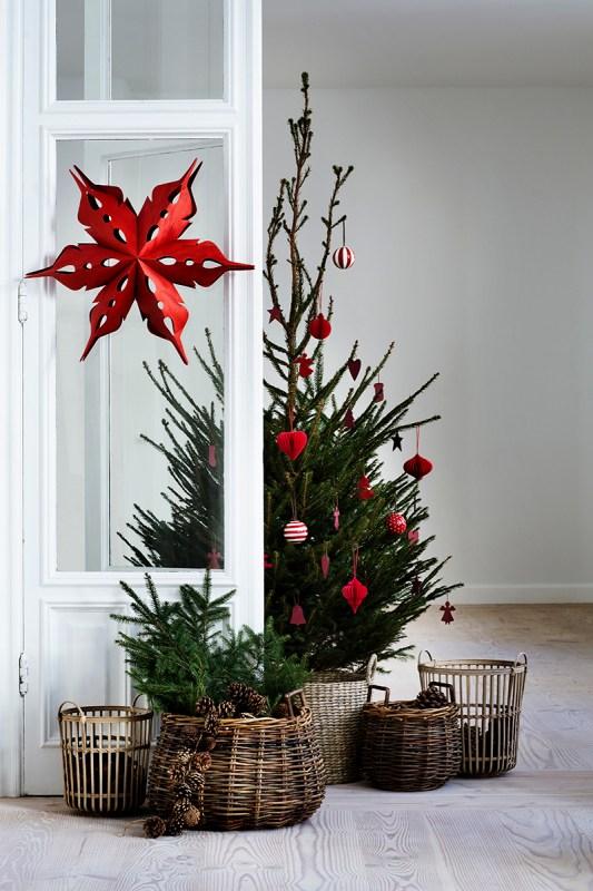 Scandinavian Christmas Tree Baskets