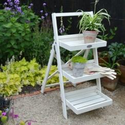 Cream plant stand
