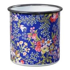 V&A floral enamel pot