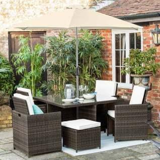 Rattan garden dining set