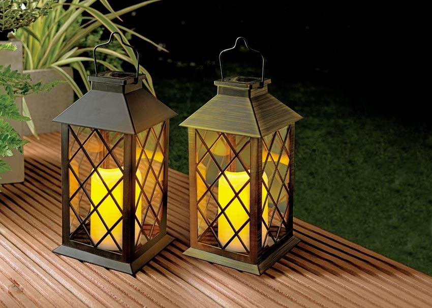 Garden lanterns. Picture; White Stores
