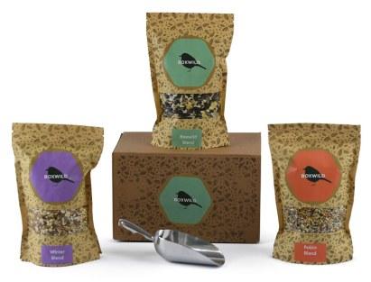 Winter Bird Seed Gift Set. Picture; Boxwild