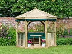 3m Hexagonal Garden Gazebo. Picture; Forest Garden
