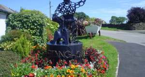 The iconic blacksmith at Stanghow, made from horseshoes. Picture; RHS