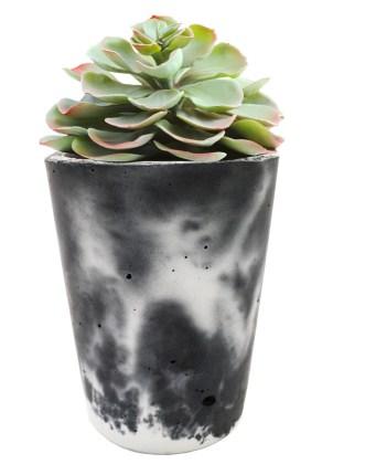 Marbled concrete pot. Picture; The Glasgow School of Art Shop
