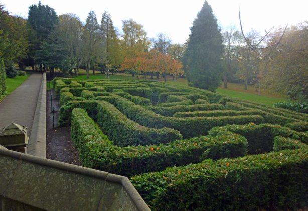 The maze, Saltwell Towers, Saltwell Park, Gateshead