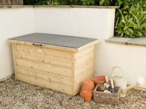 Shiplap Garden Storage Box. Picture; Forest Garden