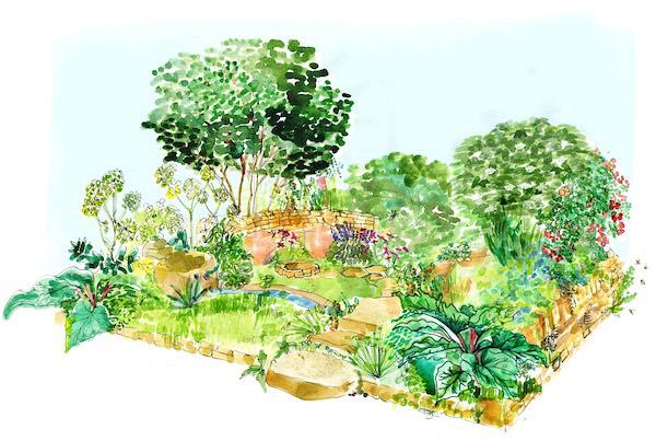 The Warner Edwards Garden. Picture; RHS MIC