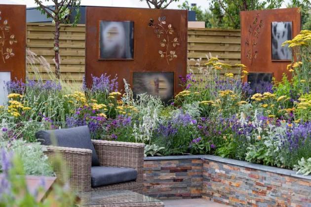 The RNIB Community Garden. Picture; RHS/Neil Hepworth