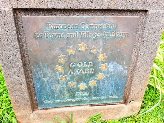 Gold award plaque, Funchal Municipal Garden