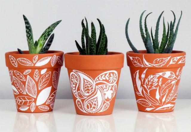 Designs created with White Posca Pen. Picture; Mitsubishi Pencil Company