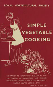 Simple Vegetable Cooking from the Dig for Victory campaign. Picture; RHS Lindley Collections