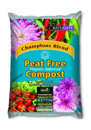Champions Blend Peat Free Compost. Picture; Bathgate
