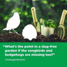 Toby Buckland's plea to gardeners. Picture; Grazers