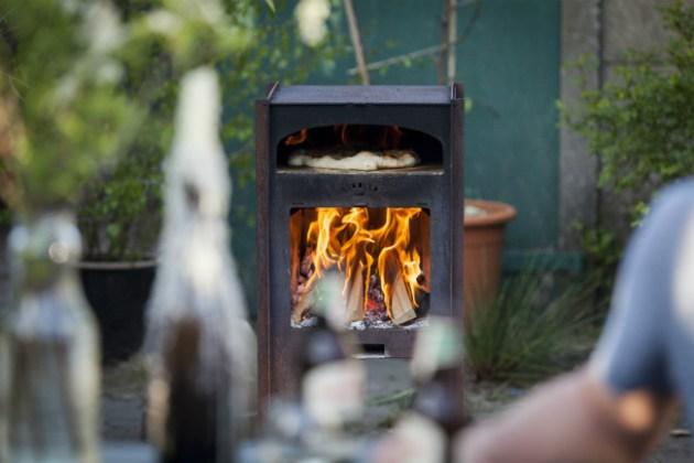 Stadler wood-fired oven by Distinctive Garden
