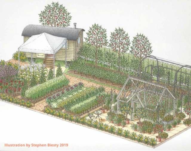 Edible Eden Garden at RHS Hampton Court 2019. Picture; Lubera