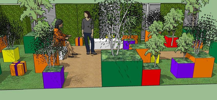 Macmillan Legacy Show garden by Martyn Wilson