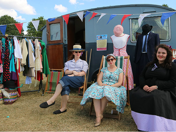 Festival of the 50s fashion and Wanda the caravan! Picture; Beamish Museum