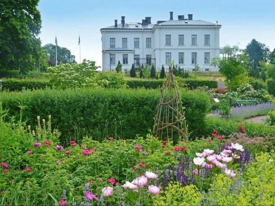 English Garden at Jonsered by Susie White