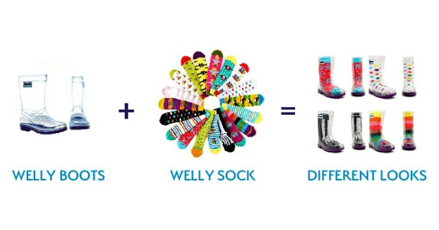 Squelch wellies and socks