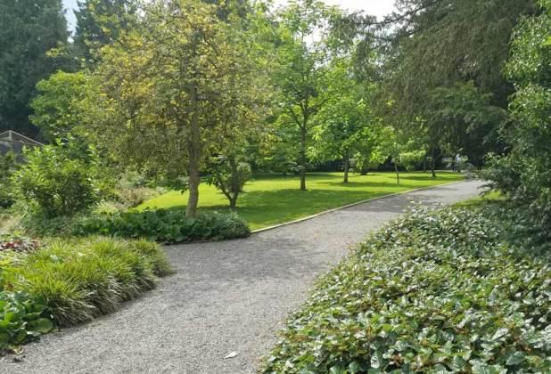 Garden area by the birds of prey centre