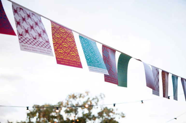 Biota Street Inala 2019 - workshop-generated bunting