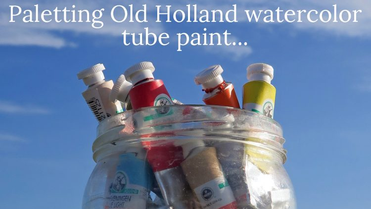 Videos: Old Holland watercolor paint from tubes into palettes and color chart!