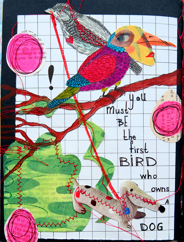 Collage journal page #2 by Mandy van Goeije