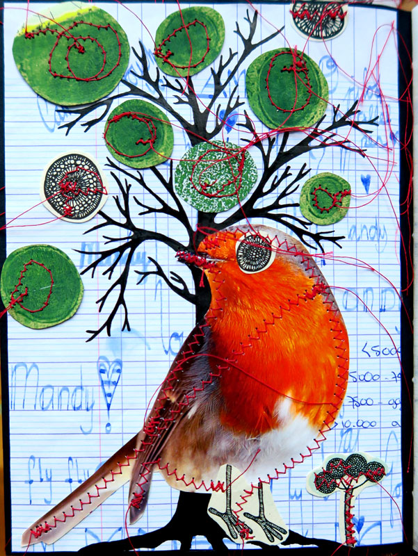 Collage journal page #6 made by Mandy van Goeije