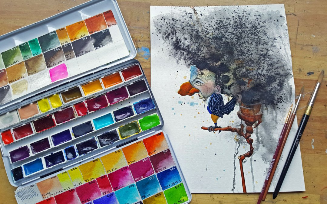 New painting and M. Graham Watercolor paint review