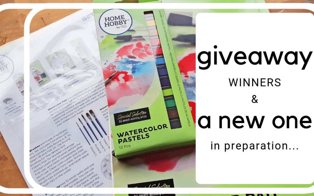 GiveAway winners and…a new one in prep!
