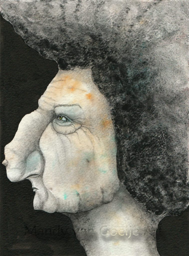 Michaela, watercolor painting by Mandy van Goeije