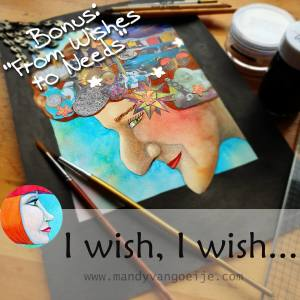 """I wish, I wish..."" online watercolor and mixed media course by Mandy van Goeije"